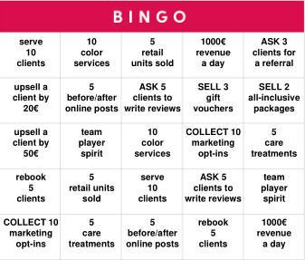Sales Bingo Challenge