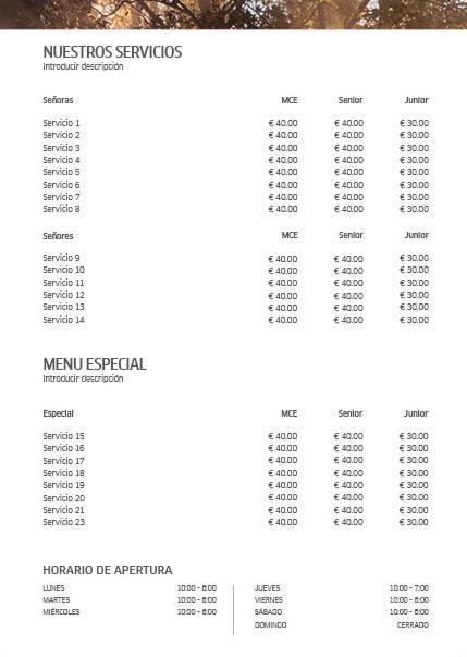 WP Koleston Perfect Sunrise Price List 2 Previsualización reverso