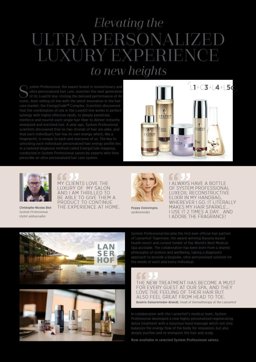 System Professional LuxeOil Advertorial