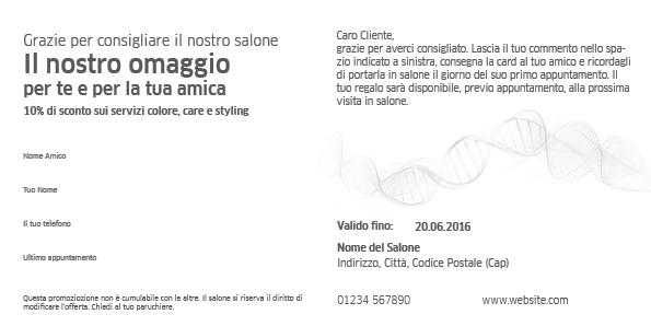 System Professional Referral Card 1 Anteprima retro