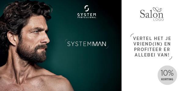 System Professional Man Refferal Card Voorbeeldweergave voorzijde