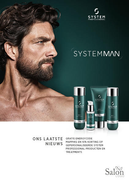 System Professional Man News Flyer Voorbeeldweergave voorzijde