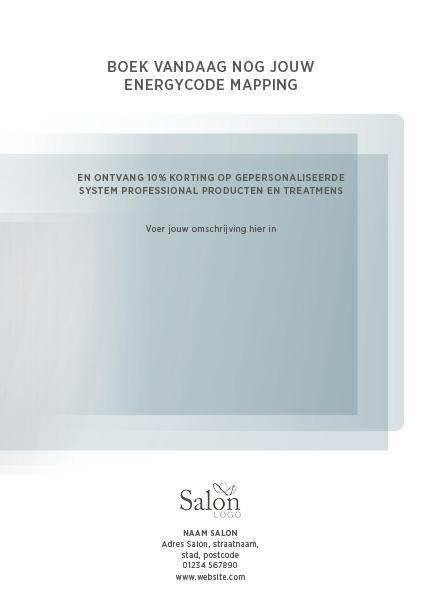 System Professional Man News Flyer Voorbeeldweergave achterzijde