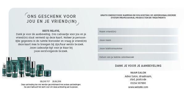 System Professional Man Refferal Card Voorbeeldweergave achterzijde