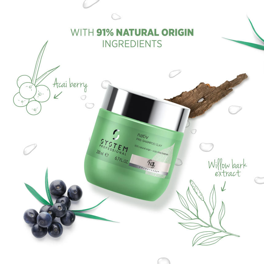 System Professional Nativ Pre-shampoo clay