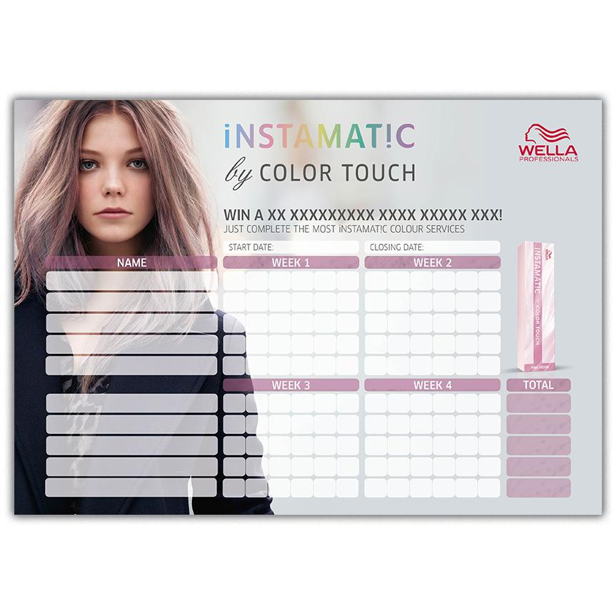 Color Touch Incentive Chart Front Preview
