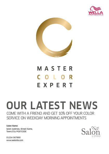 Master Color Expert News Flyer Front Preview