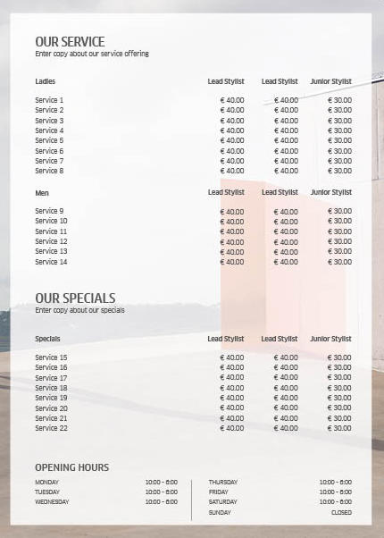 Koleston Perfect ME+ Price List 1 Back Preview