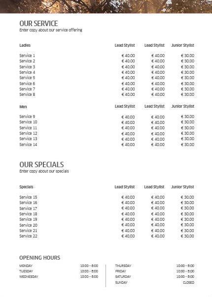 Koleston Perfect ME+ Price List 2 Back Preview