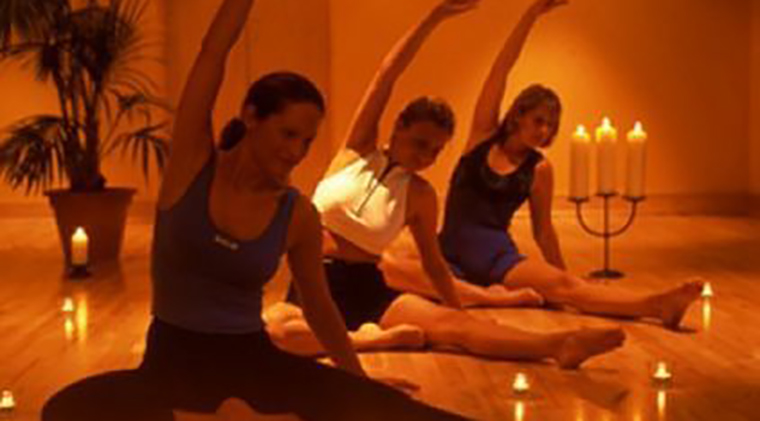 Image result for candle light yoga