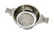 Patterned pewter quaich