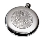 round  pewter flasks to fit in sporrans
