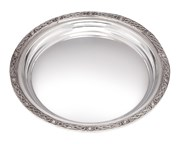 Pewter trays, salvers, plates and coasters