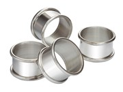 pewter tableware, napkin rings coasters