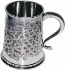 Pewter tankards and beakers