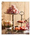 Pewter two tiers petit fours stand