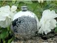 6oz Round Yorkshire Rose Pewter Flask