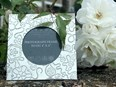 "Square Yorkshire Rose 4""x4"" pewter picture Frame"