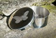 Small butterfly pewter trinket box