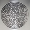 6oz Pewter Celtic circle kidney hip flask