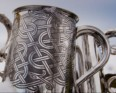 Celtic Pattern Pewter 1 pint Tankard