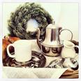 Pewter & ceramic mug