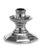 Pewter octagonal candlestick short