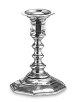 Pewter octagonal candlestick medium