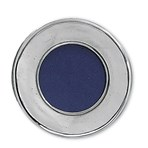 Pewter round picture frame plain small