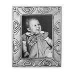 Pewter Art-Nouveau picture frame small 11 cm x 14 cm (7 cm x 10 cm )