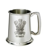 Prince of Wales Feathers 1 pint Pewter Tankard