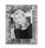 Pewter grooved picture frame 18.5 cm x 23.5 cm (18 cm x 13 cm)