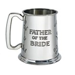 Father of the Bride 1 pint pewter Tankard