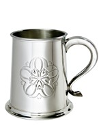 Yorkshire Rose 1 pint pewter Tankard