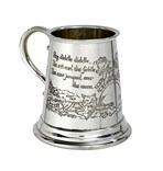 Cow Over the Moon Pewter quarter pint baby Mug