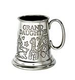 Grand Daughter pewter quarter pint baby Mug