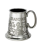 Grandson pewter quarter pint baby Mug