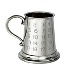 Pewter Tutor quarter pint baby Mug