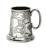 Teddy Bears Picnic pewter quarter pint baby Mug