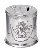 Cow over the Moon Pewter Money Box