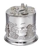 Pewter Teddy Bears Picnic Money box