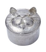 Cast Pewter Cat Trinket Box