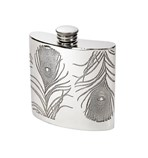 4oz Peacock Pewter Kidney hipFlask