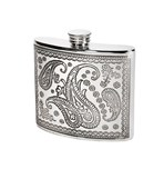 6oz paisley pewter kidney pewter hipFlask
