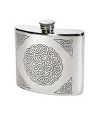 6oz celtic Knot pewter kidney hip flask