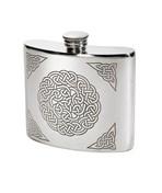 6oz celtic Knot pewter kidney hip flask