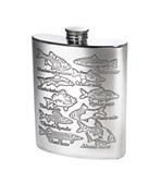 6oz Pewter Fish kidney hip Flask