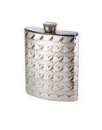 6oz Dogstooth Pewter Kidney Hip Flask
