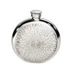 6oz Round Sunfish Pewter Flask