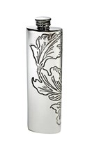 3oz Acanthus Pattern Pewter Purse Flask